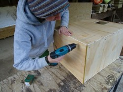 Indoor Barn Owl Nestbox Construction 12