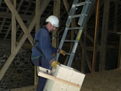 Indoor Barn Owl Nestbox Erection 05
