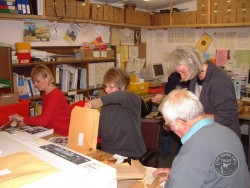 Volunteers Mailings In BOT Office