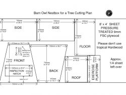 Outdoor Nestbox Cutting Plan