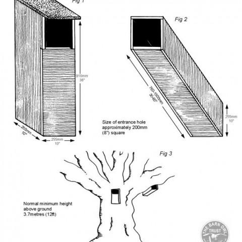 Tawny Owl Nestboxes Diagram